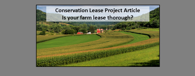Reminder: New leases need to be signed before March 1, 2014.  Is your farm lease thorough? Think about what your lease would look like for a rental house.  Compare that […]